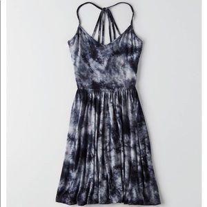 Soft & Sexy Black Tie-Dye Dress
